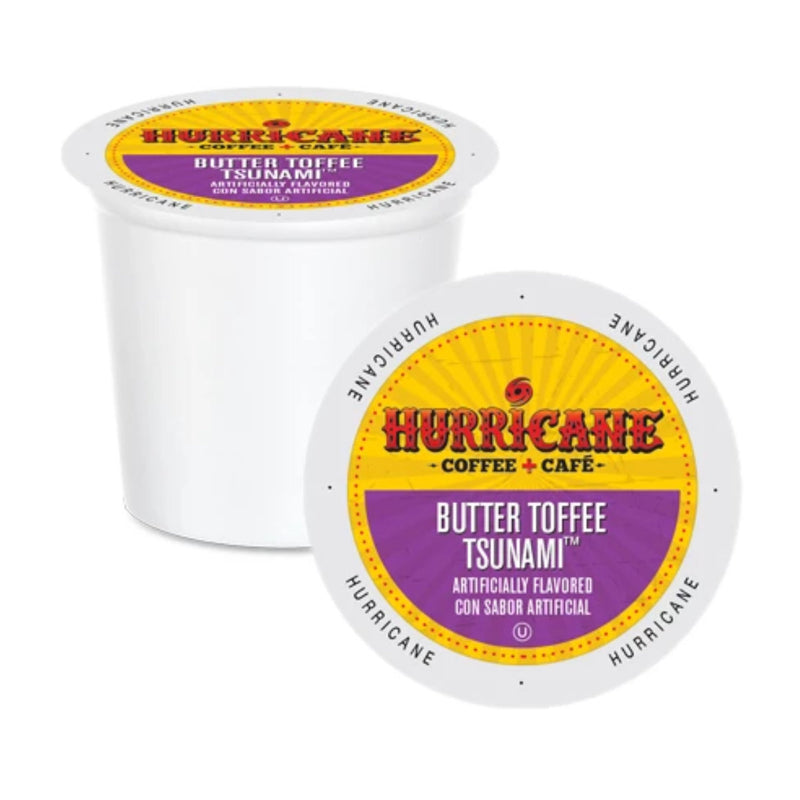 Hurricane Coffee Butter Toffee Tsunami Single-Serve Pods (Box of 24)