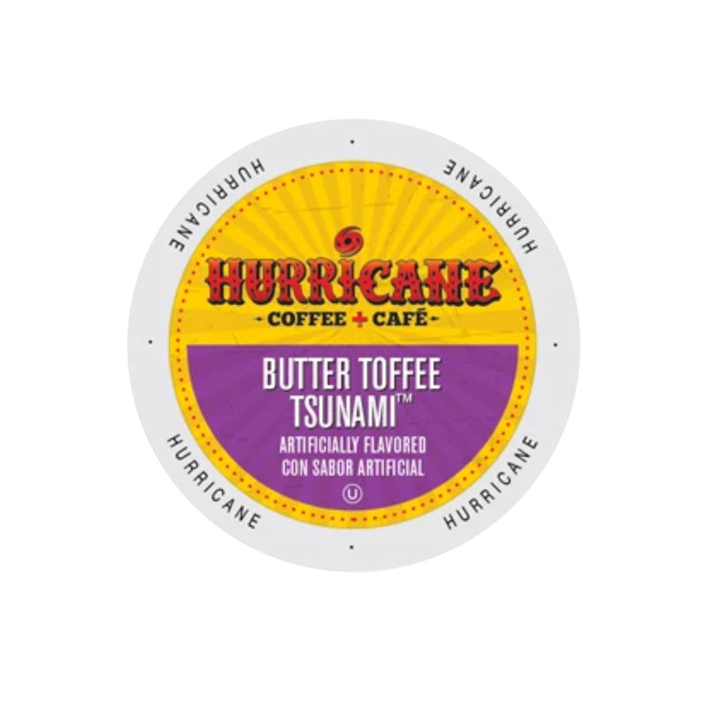 Hurricane Coffee Butter Toffee Tsunami Single-Serve Pods (Case of 96)