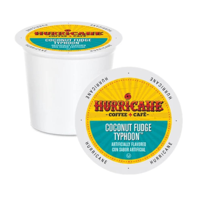 Hurricane Coffee Coconut Fudge Typhoon Single-Serve Pods (Box of 24)