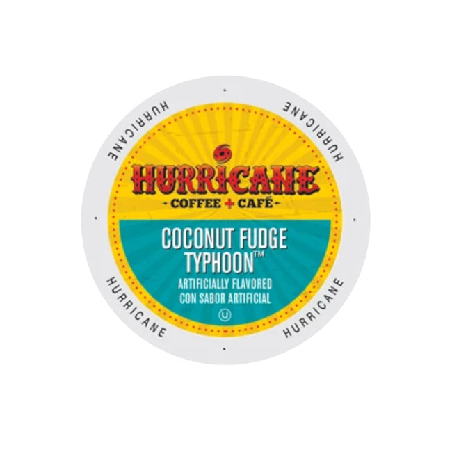 Hurricane Coffee Coconut Fudge Typhoon Single-Serve Pods (Case of 96)