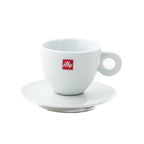 Illy Cappuccino Cups & Saucers