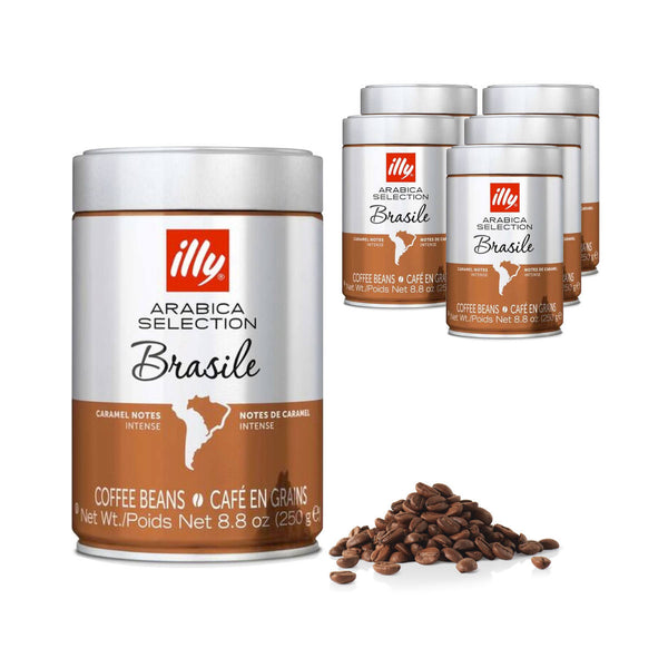 Illy Arabica Selection Brasile Coffee Beans (Case of 6)