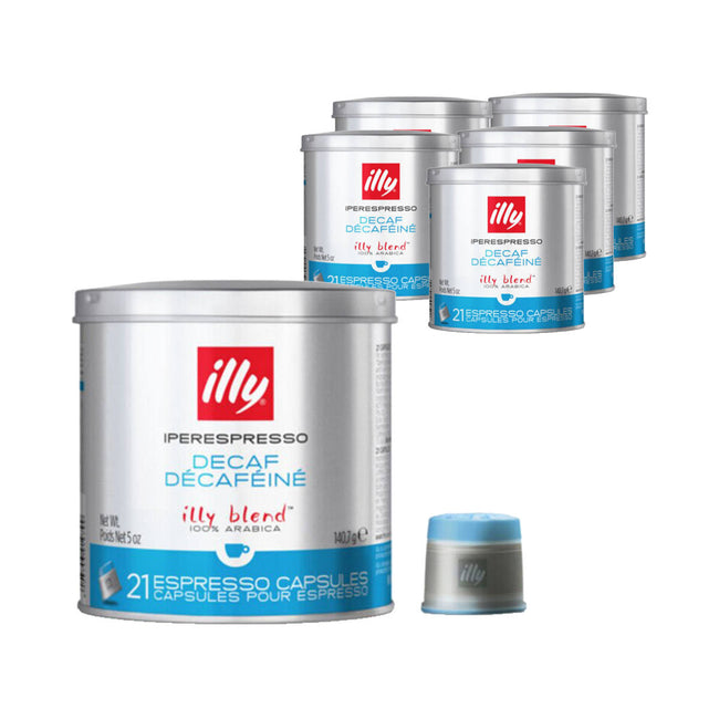 Illy Iperespresso Capsules Decaf Classico Medium Espresso Coffee (Case of 126)