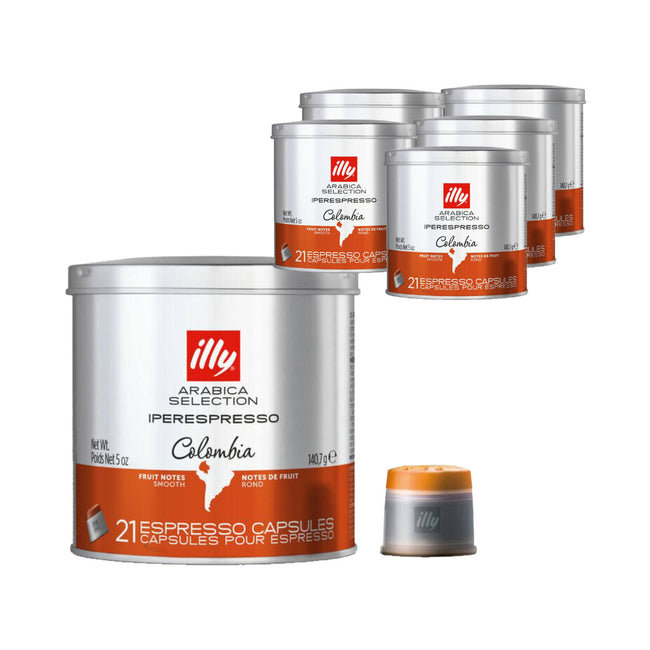 Illy Iperespresso Colombia Arabica Selection Espresso Capsules (Bulk Case of 126)