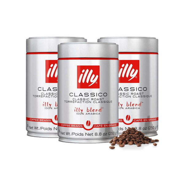 Illy Classico Medium Coffee Beans (Case of 3)