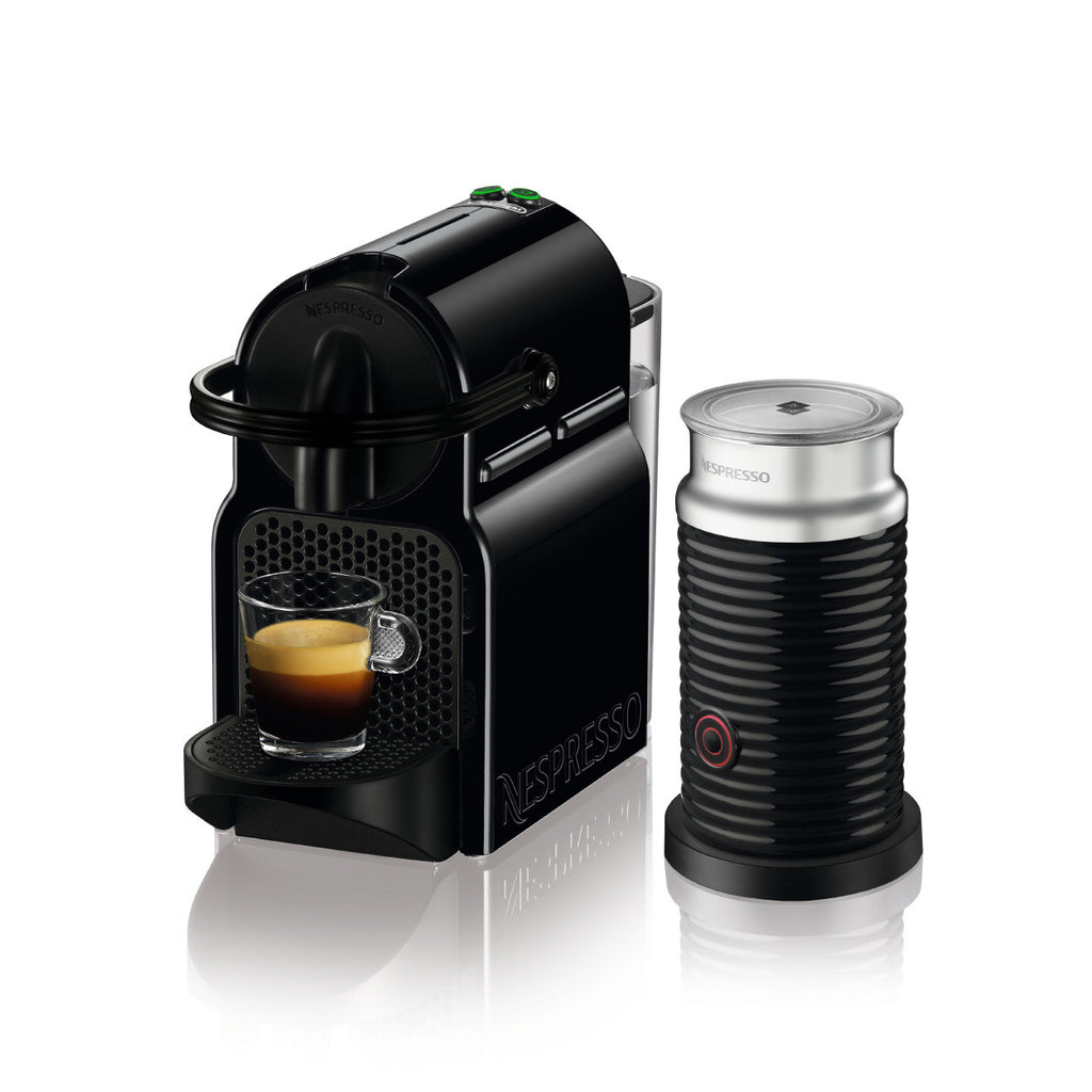 Nespresso by DeLonghi Inissia Brewer with Aeroccino 3 in Black
