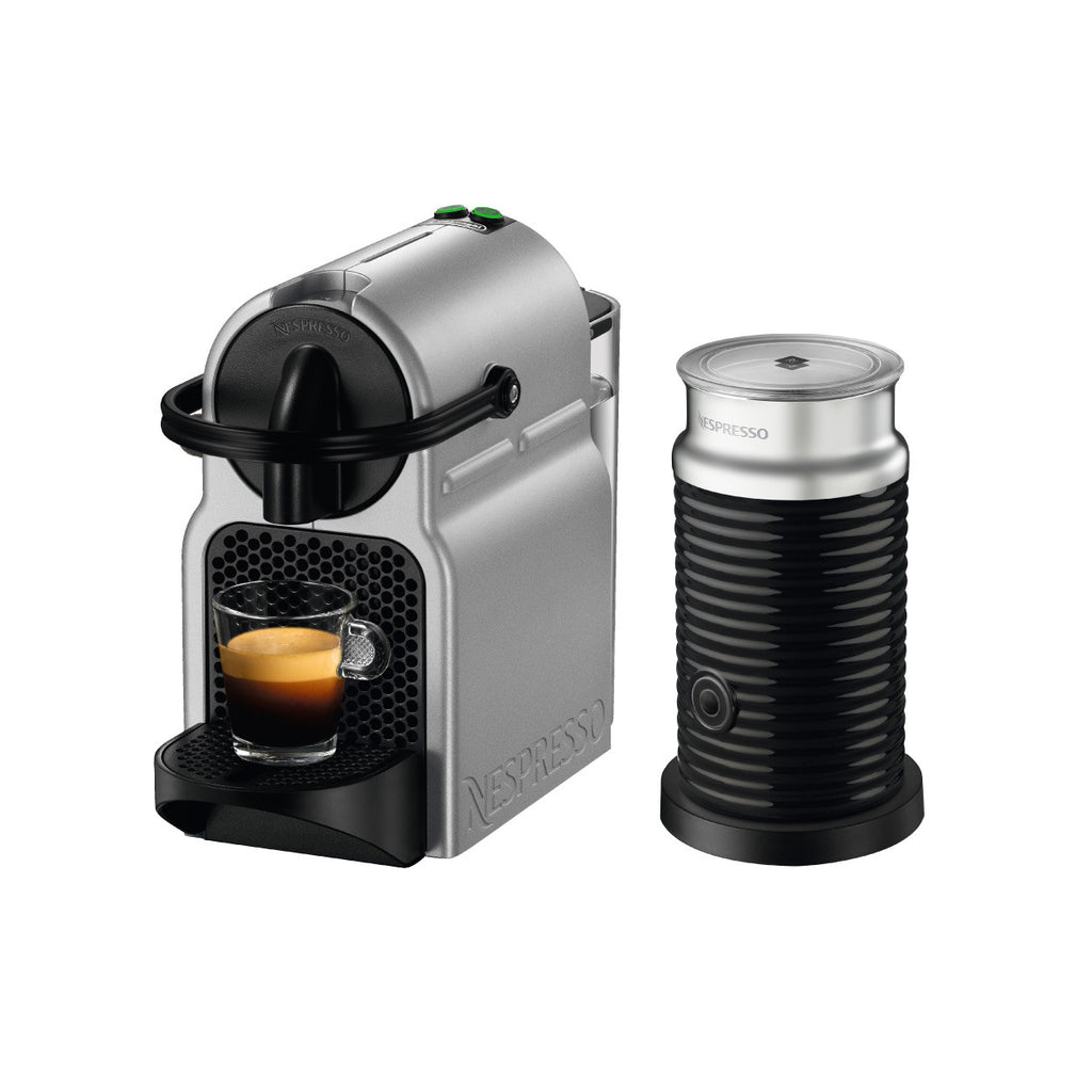 Nespresso by DeLonghi Inissia Brewer with Aeroccino 3 (Silver)