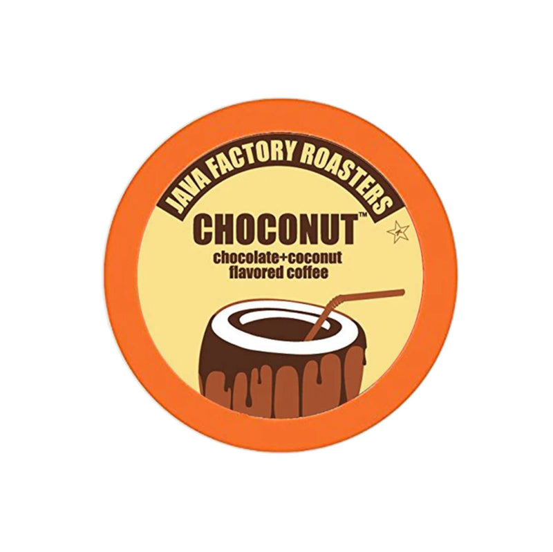 Java Factory Choconut Single-Serve Coffee Pods (Box of 24)