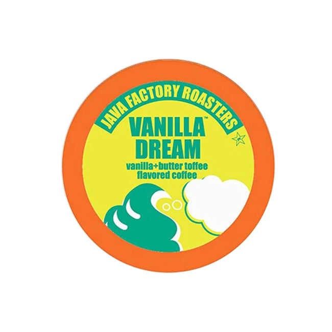 Java Factory Vanilla Dream Single-Serve Coffee Pods (Box of 24)