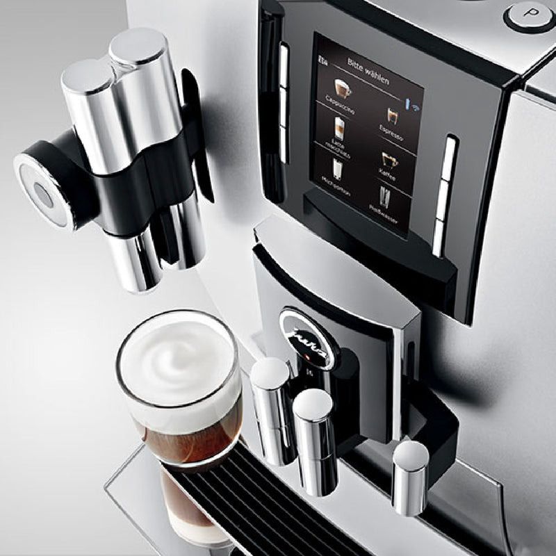 Jura J6 Super Automatic Coffee & Espresso Machine (Brilliant Silver)