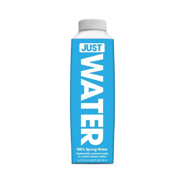 JUST Pure Spring Water 16.9oz Eco-Friendly Plant-Based Bottle (Box of 12)