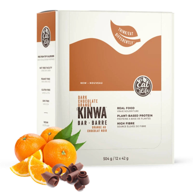 Eat to Life Dark Chocolate Orange Kinwa Bars (Box of 12)