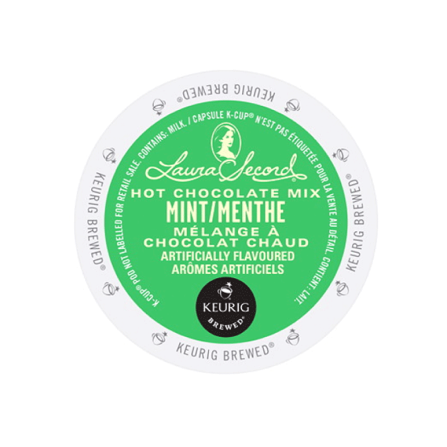 Laura Secord Mint Hot Chocolate K-Cup® Pods (Case of 96)