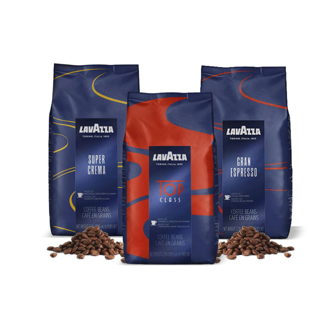 Lavazza Whole Bean Espresso Variety Pack (3x 1kg/2.2lb)