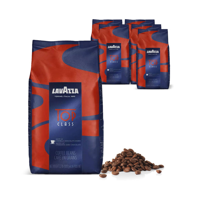 Lavazza Top Class Espresso Coffee Beans Bulk Value Pack (6x 1kg / 2.2lb)