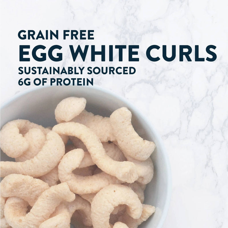 LesserEvil Egg + Cheese Grain-Free Egg White Curls 4oz (Case of 9 Bags)