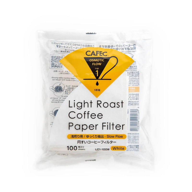 CAFEC Light Roast Coffee Paper Filter (1 Cup, Size 01)