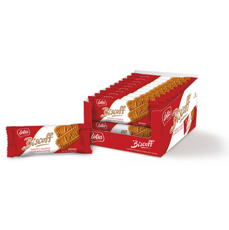 Lotus Biscoff European Speculoos Cookies (Box of 40 Wrapped in Pairs)
