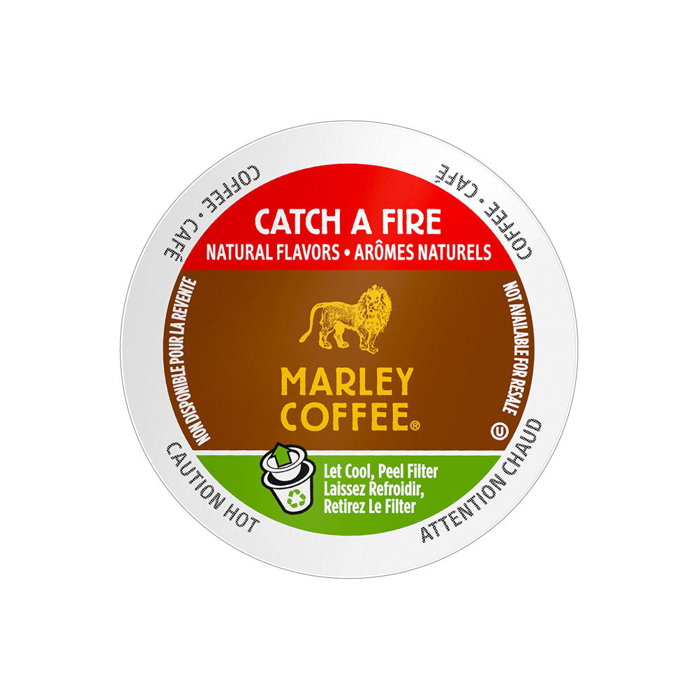 Marley Coffee Catch A Fire Single Serve Coffee Pods (Case of 96)