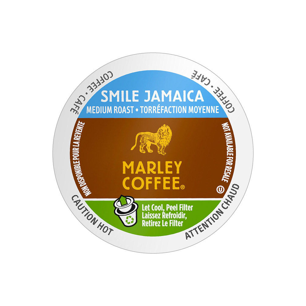 Marley Coffee Smile Jamaica Single Serve Coffee Pods (Box of 24)