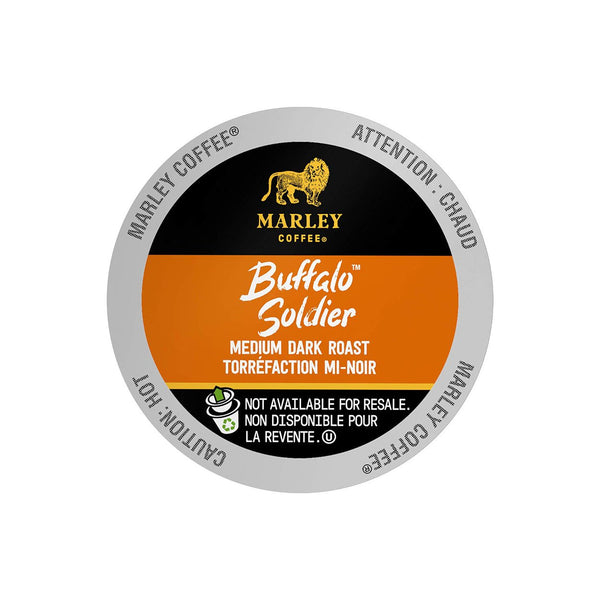 Marley Coffee Buffalo Soldier Single Serve Coffee Pods Lid