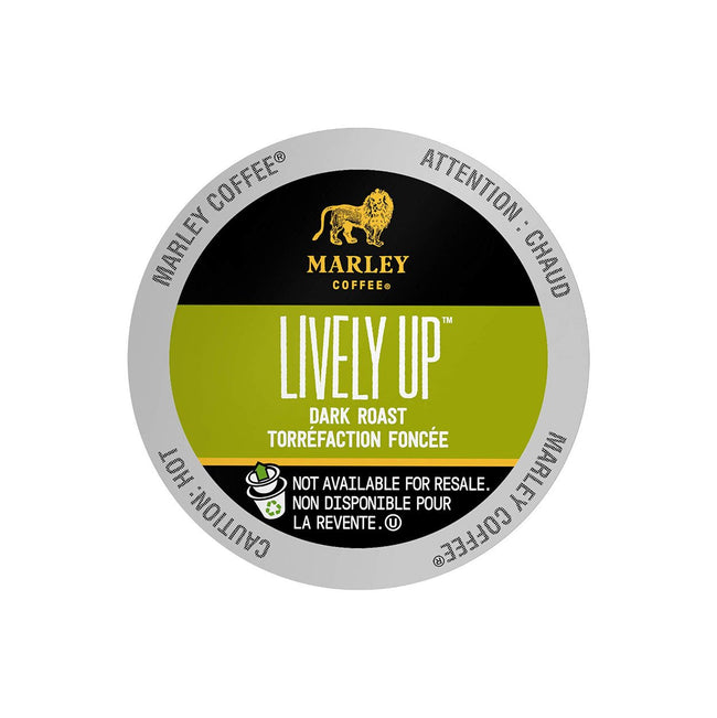 Marley Coffee Lively Up! Single Serve Coffee Pods (Case of 96)