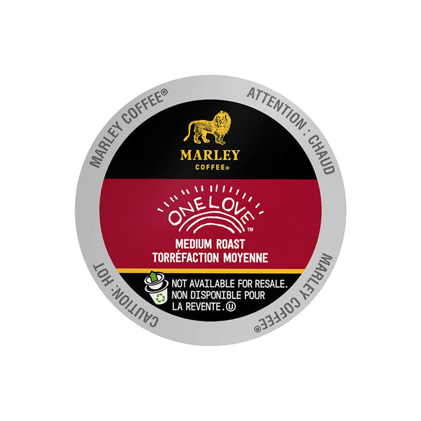 Marley Coffee One Love Single Serve Coffee Pods (Case of 96)