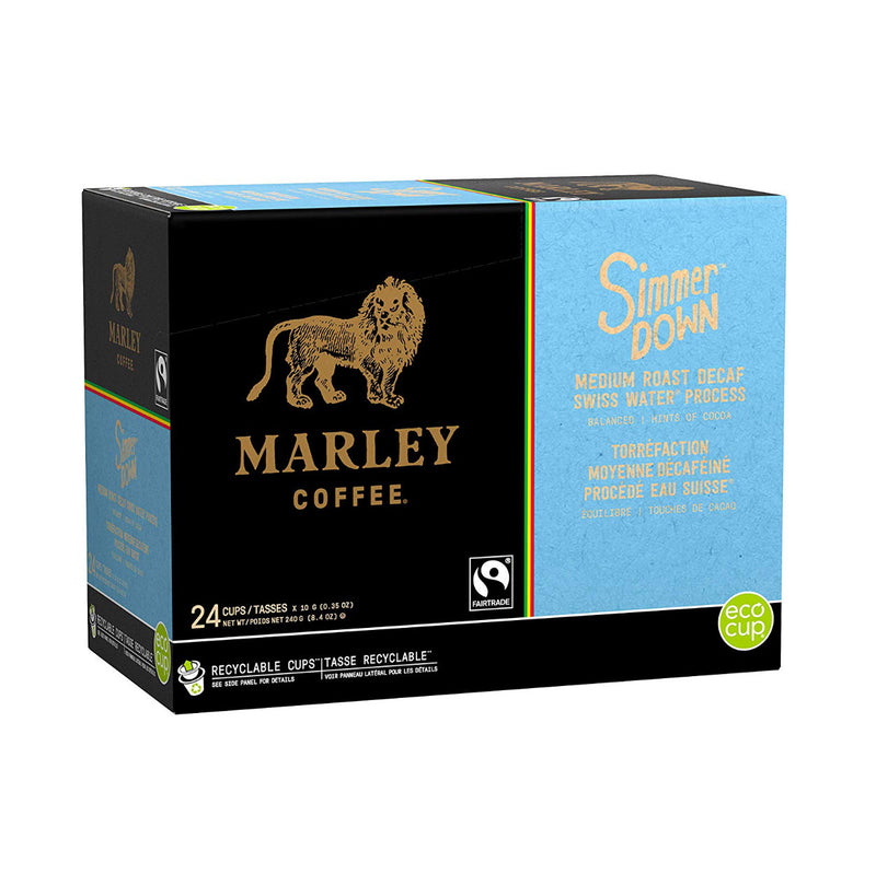 Marley Coffee Simmer Down Decaf Single Serve Coffee Pods (Case of 96)