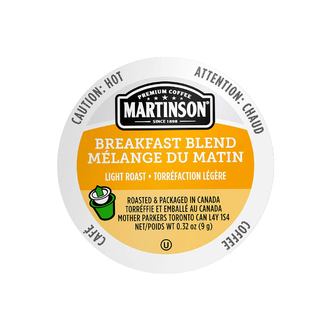 Martinson Coffee Breakfast Blend Single Serve Pods (Box of 24)