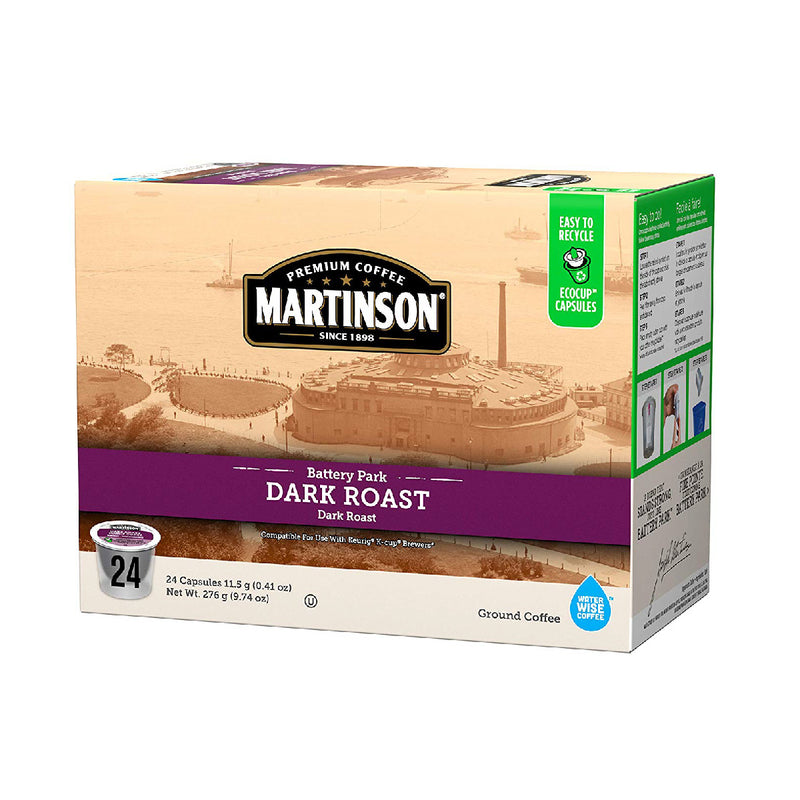 Martinson Coffee Dark Roast Single Serve Pods (Case of 96)