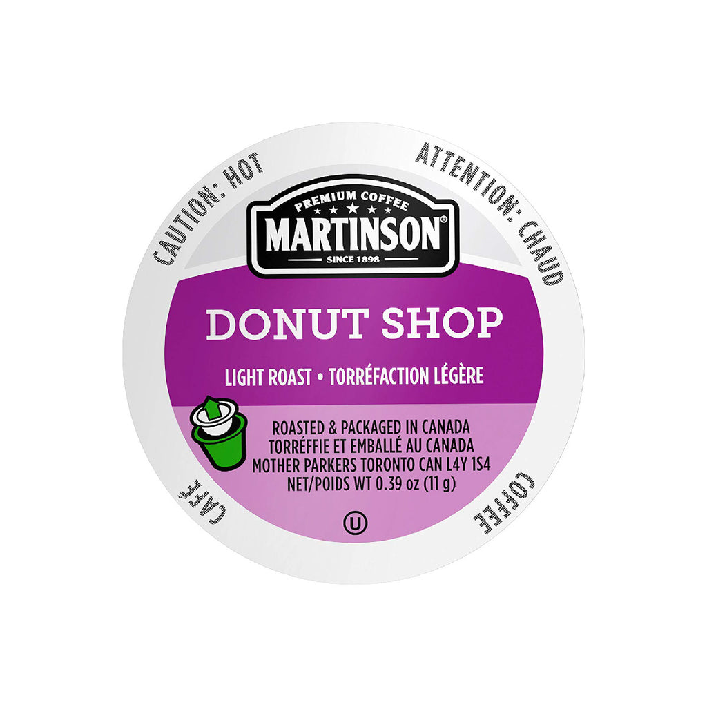 Martinson Coffee Donut Shop Single Serve Pods (Box of 24)
