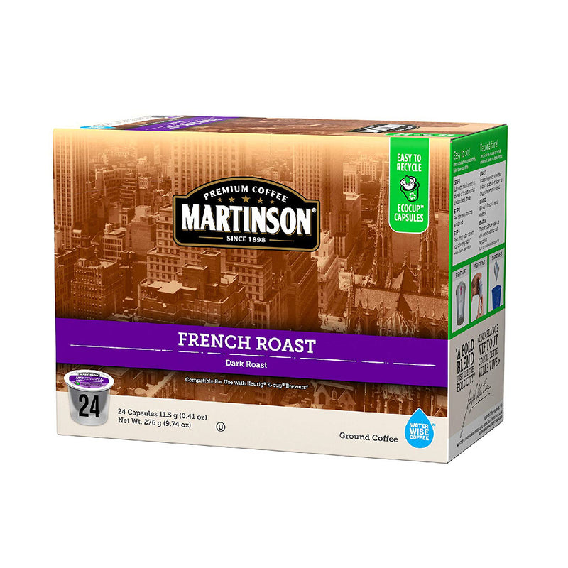 Martinson Coffee French Roast Single Serve Pods (Box of 24)