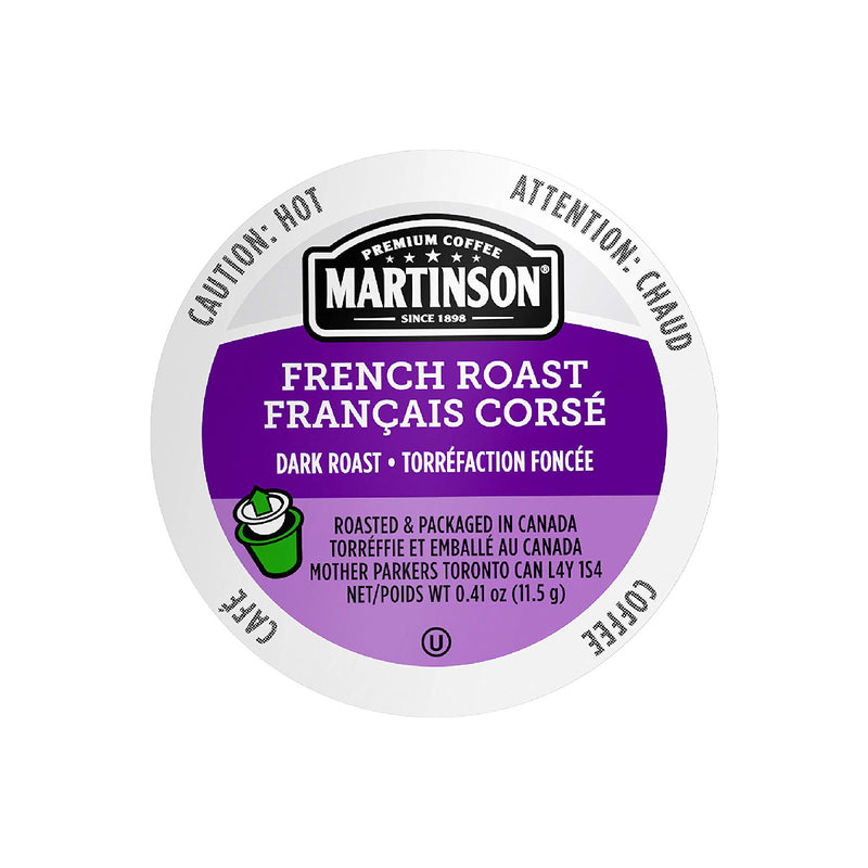 Martinson Coffee French Roast Single Serve Pods (Case of 96)