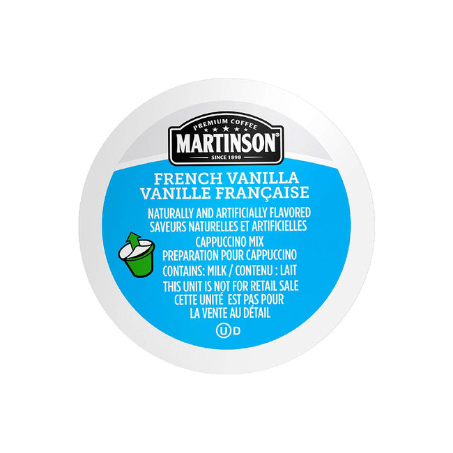 Martinson Coffee French Vanilla Cappuccino Single Serve Pods (Case of 96)