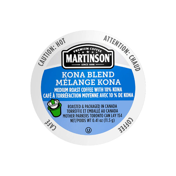 Martinson Coffee Kona Blend Single Serve Pods (Box of 24)