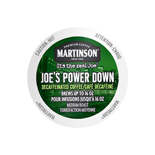 Martinson Coffee Joe's Power Down Decaf Single Serve Pods (Case of 96)