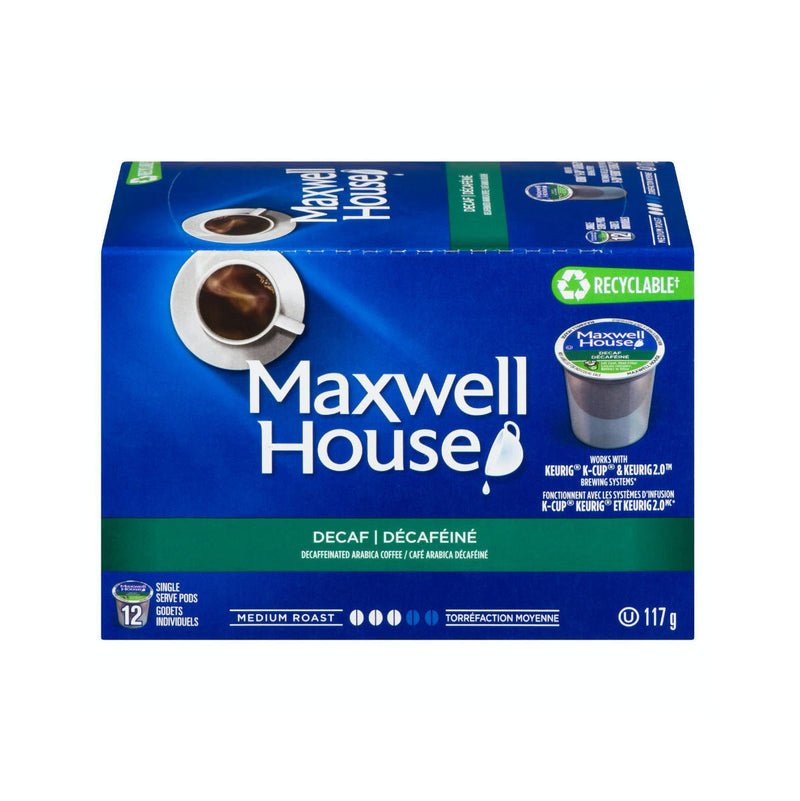 Maxwell House Decaf Blend K-Cup® Recyclable Pods (Box of 12)