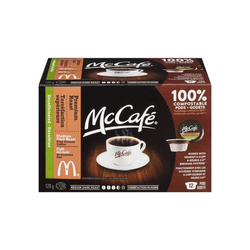 McCafé Decaf Premium Roast K-Cup® Recyclable Pods (Box of 12)