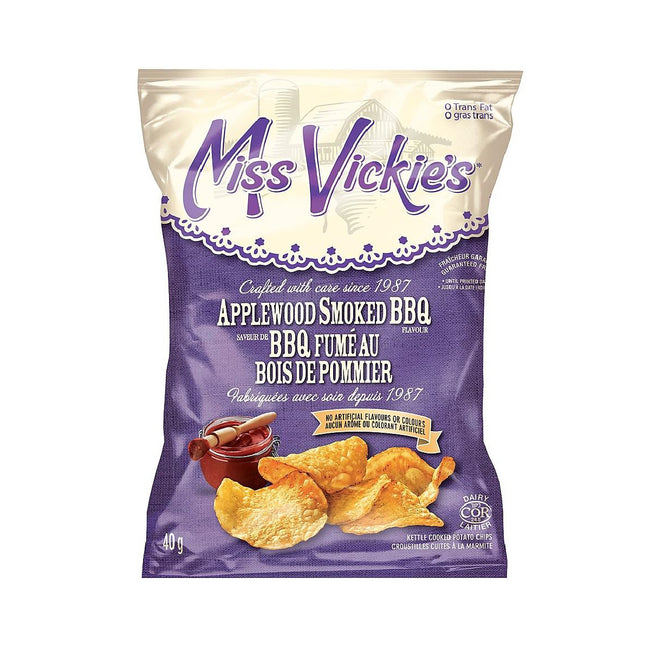 Bulk Miss Vickie's Applewood Smoked Barbecue Chips (Box of 40 Bags)