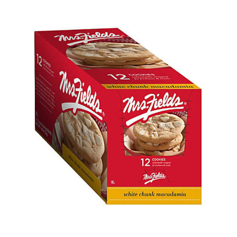 Mrs. Fields White Chunk Macadamia (12 Individually Wrapped Cookies)
