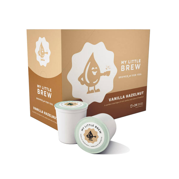 My Little Brew Vanilla Hazelnut Single-Serve Coffee Pods (Box of 24)