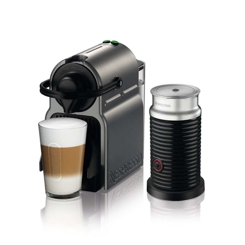 Nespresso by Breville Inissia Brewer with Aeroccino 3 in Titan