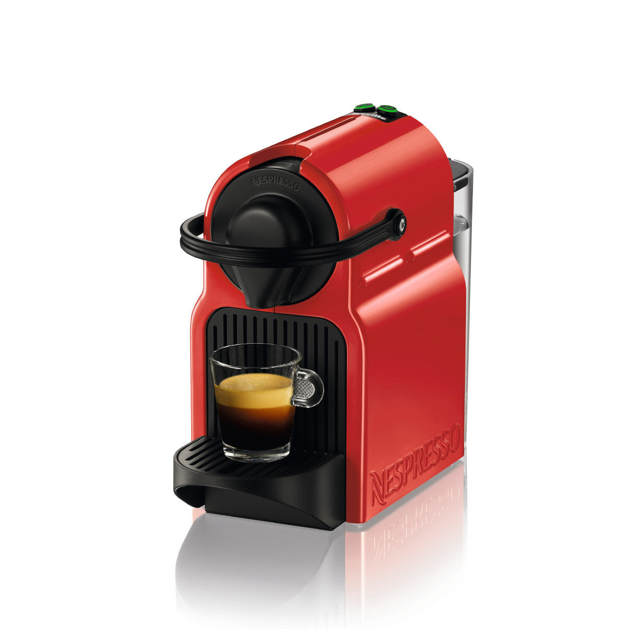 new nespresso inissia espresso machine in red color with manufacturer warranty ebay. Black Bedroom Furniture Sets. Home Design Ideas