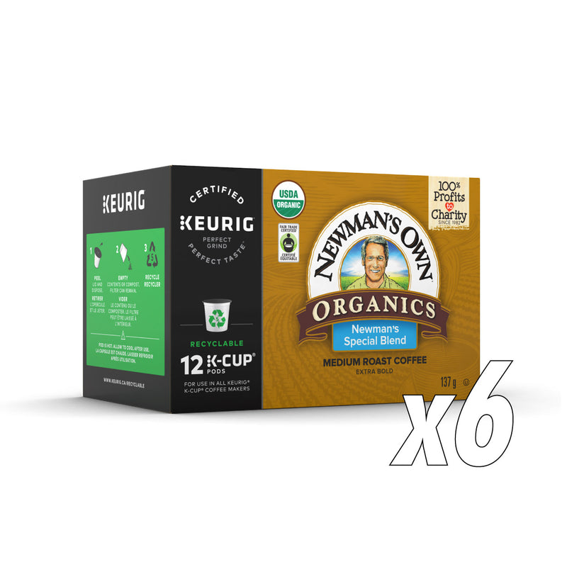 Newman's Own Organics Special Blend Case of 72 K-Cup® Pods