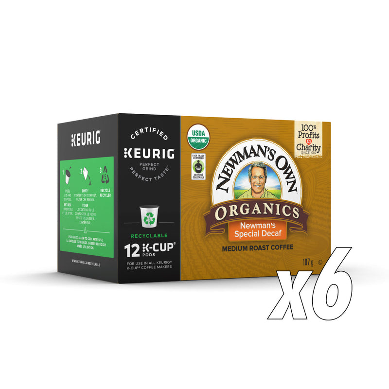 Newman's Own Organics Special Decaf Case of 72 K-Cup® Pods