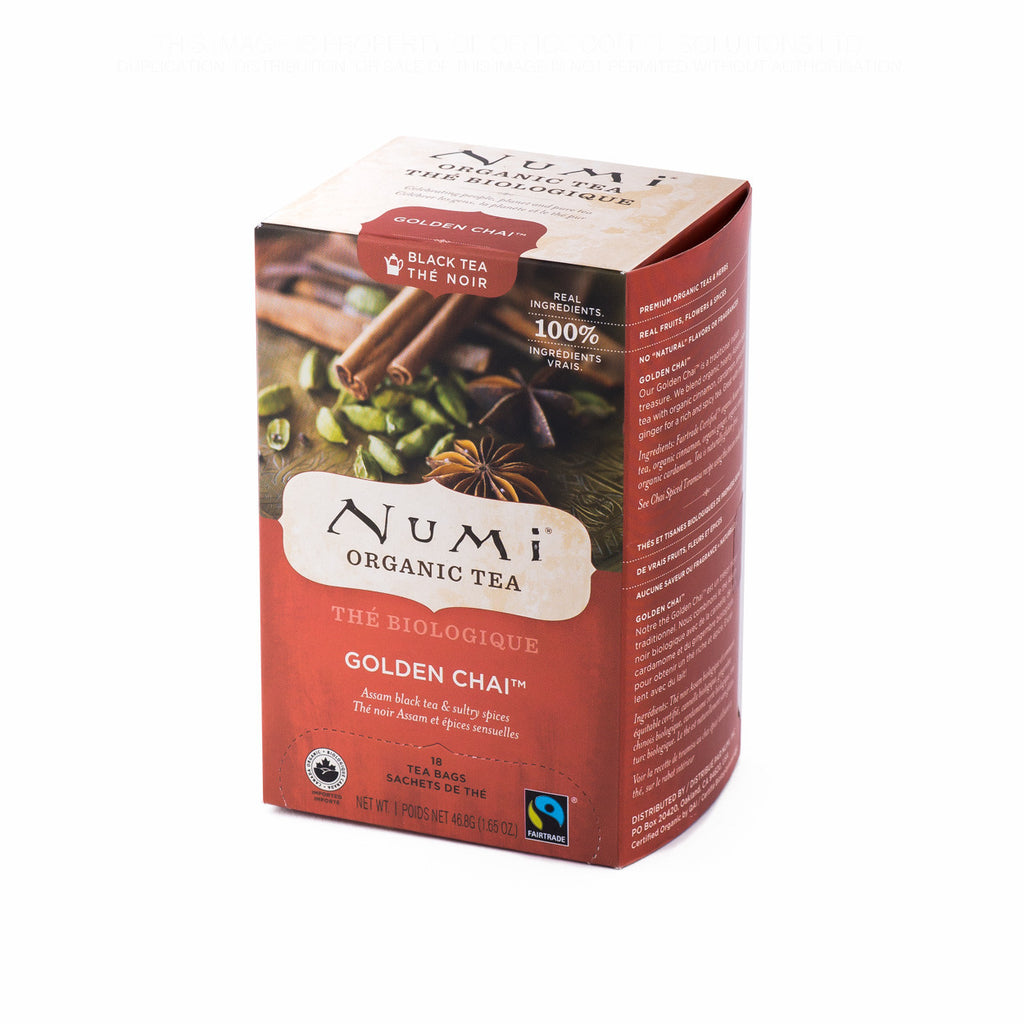 Numi Organic Tea: Golden Chai Tea Bags