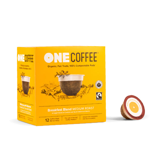 OneCoffee Breakfast Blend Single-Serve Pods (Box of 18)