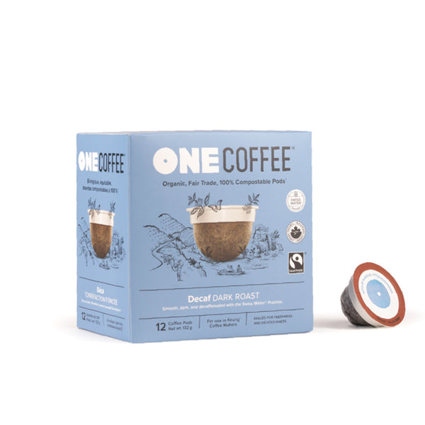 OneCoffee Dark Roast Decaf Single-Serve Pods (Box of 18)