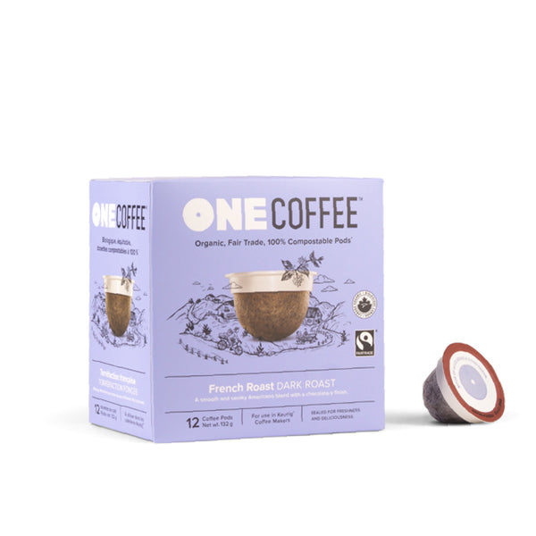 OneCoffee French Roast Single-Serve Pods (Box of 18)