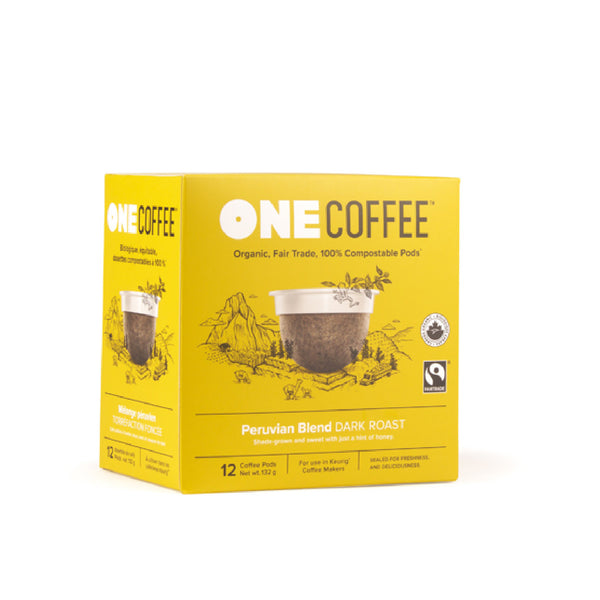 OneCoffee Peruvian Single-Serve Pods (Box of 18)